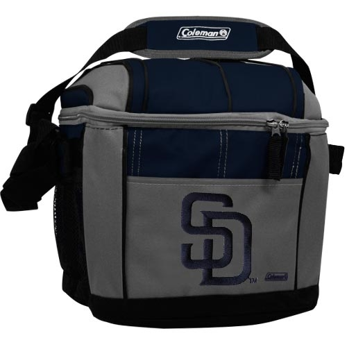 Coleman San Diego Padres 24-Can Soft-Sided Cooler - Gray/Navy Blue - No Size