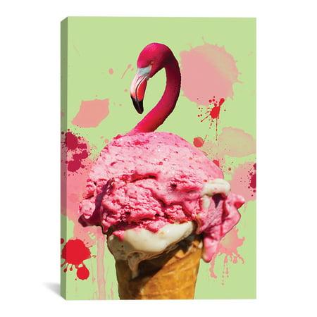 "Flamingo Ice Cream Artwork | Choose from Canvas or Art Print | Living Room, Bedroom, Office, Bathroom Wall Decor Art Ready to Hang Para El Hogar Decoracion | 48"" x 32"" - Decoracion Halloween Para Jardin"