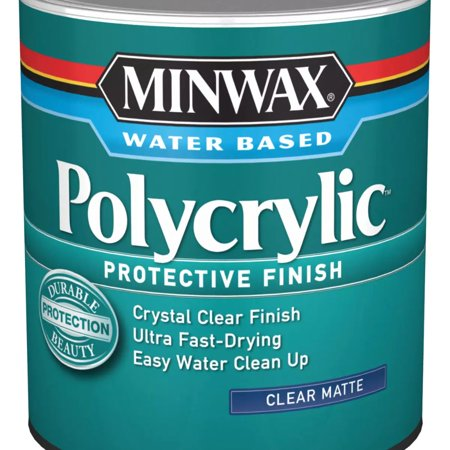 Minwax Polycrylic Protective Finish Clear Matte 1-Qt