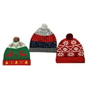 RWB Men's Beanie 3 Pack Christmas Winter Hat