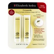 Elizabeth Arden Ceramide Set: 2x Time Complex Moisture Face Cream Spf 15 50g + Advanced Time Complex Capsules 3ml