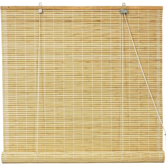Roll Up Blinds : Bamboo roll up blinds natural quot walmart