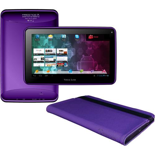 "Visual Land Prestige 7L 7"" Tablet 8GB Memory Bonus Case"