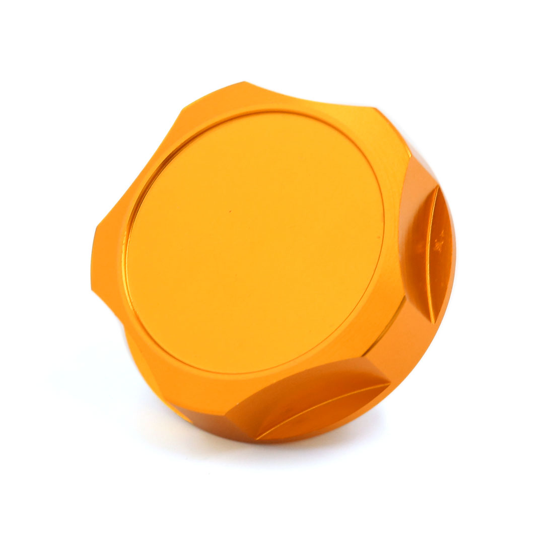 Gold Tone Aluminum Alloy Engine Fuel Gas Tank Cover Cap for Car Vehicle