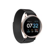 iTouch Sport 2 Smartwatch Fitness Tracker Body Temperature Heart Rate Step Counter Sleep Monitor IP68 Waterproof for Women and Men up to 30 Day Battery Touch Screen Compatible w Android & IOS (43mm)