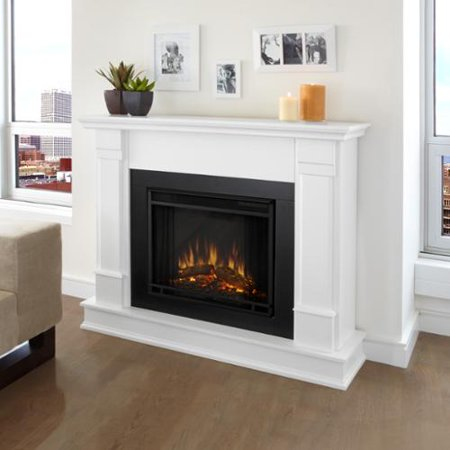 Real Flame Silverton White Electric 48 Inch Fireplace