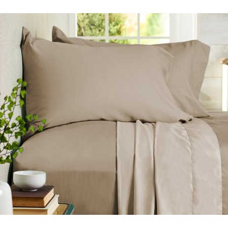 Auraa Comfort 500 TC Reversible 100% Cotton 4PC Cal King Sheet Set