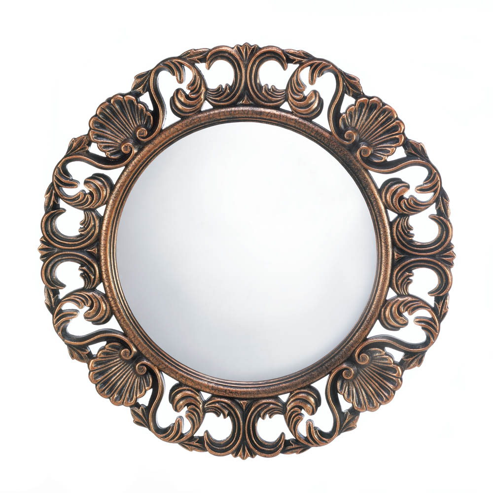 Bathroom Mirrors For Wall, Antique Wall Mirror,unique Heirloom Round Wall Mirror by Accent Plus