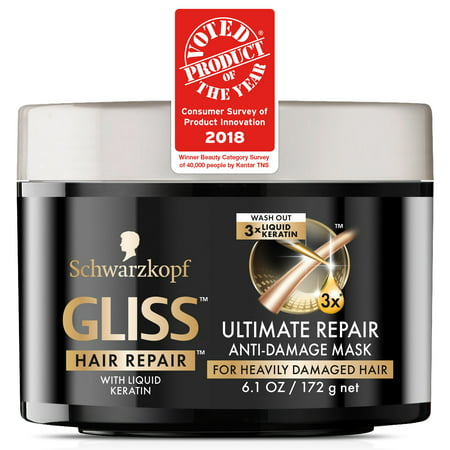 Essential Damage Care - Gliss Hair Repair Anti Damage Mask, Ultimate Repair, 6.1 Ounce