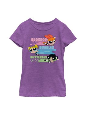 366512d61 Product Image The Powerpuff Girls Girls' Rainbow Stripes T-Shirt