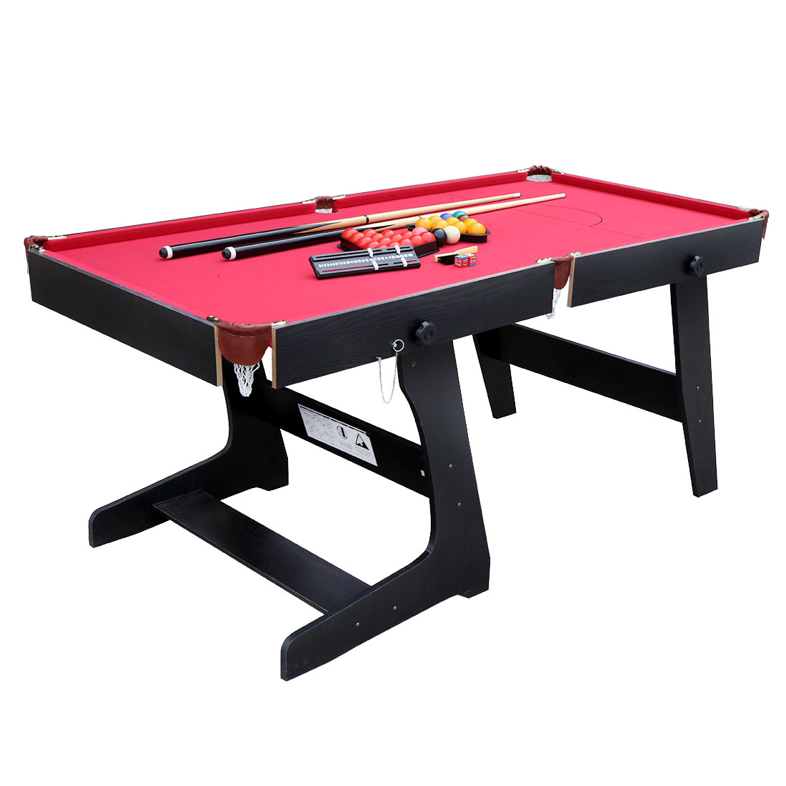 HLC 5.8 ft Snooker Billiards Table with Snooker and Pool ...