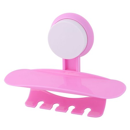 bathroom plastic suction cup wall mounted toothpaste toothbrush holder pink. Black Bedroom Furniture Sets. Home Design Ideas