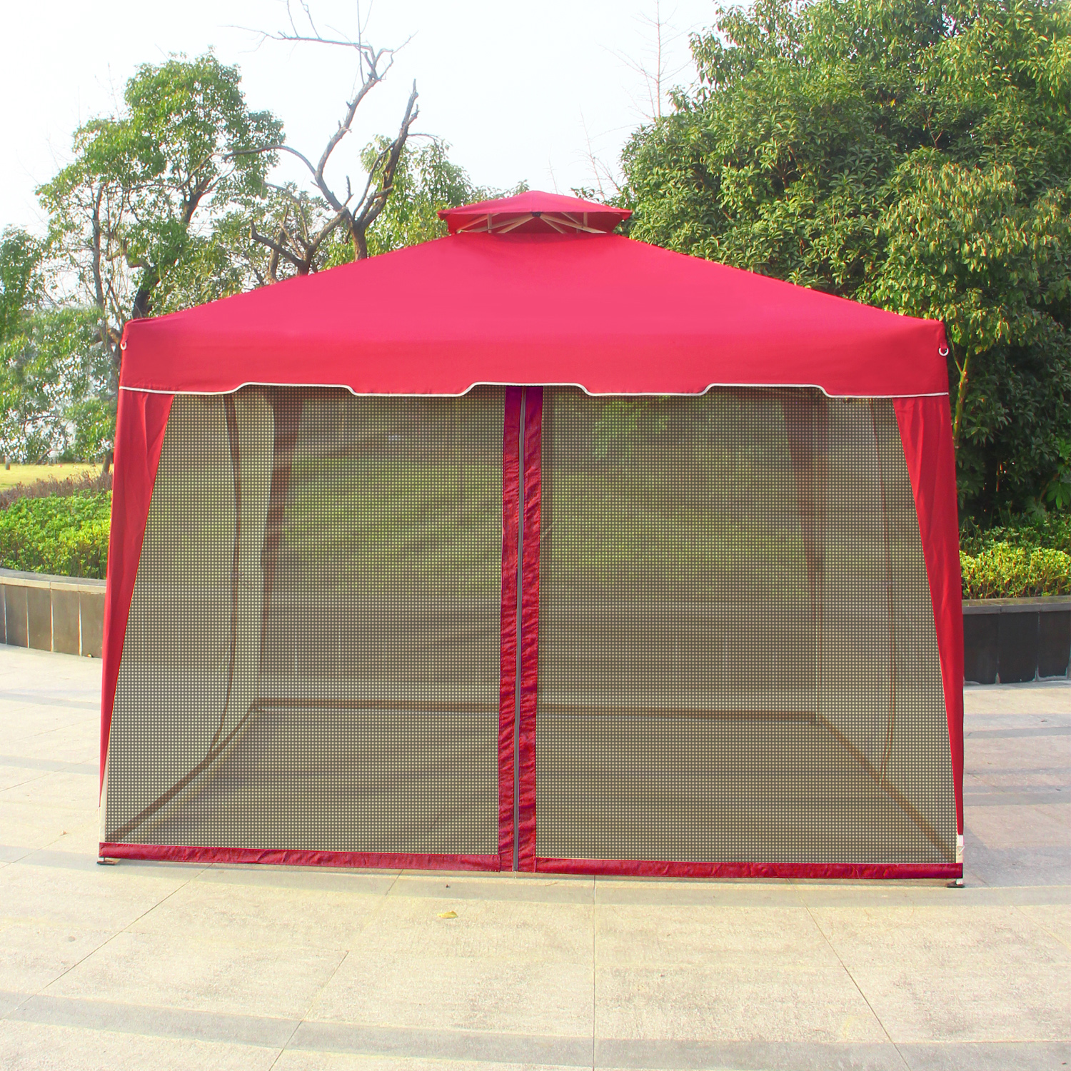 Cloud Mountain 10 X 10 Gazebo Mosquito Netting For Gazebo Canopy
