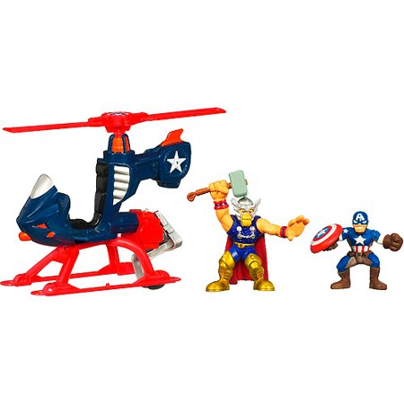 Marvel Super Hero Squad Hero Helicopter with Captain ...