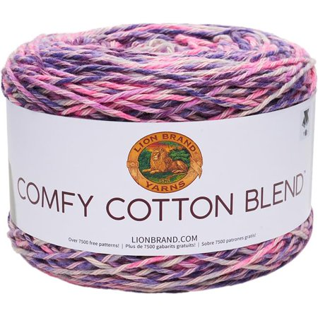 Lion Brand Comfy Cotton Blend Soothing Lavender Yarn, 392 Yd.