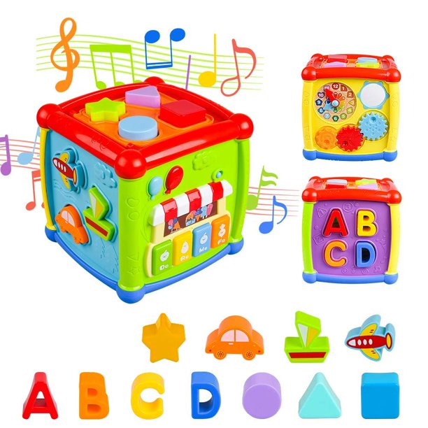 Baby Activity Cube, Shape Sorter Blocks Baby Toy 12-18 ...
