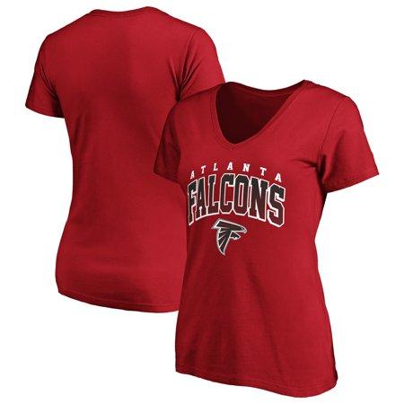 5f4c941c Women's Fanatics Branded Red Atlanta Falcons Faded Arch V-Neck T-Shirt