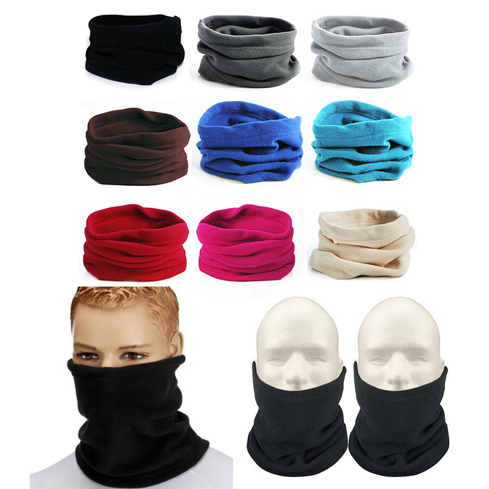 Noroomaknet Neck Warmer Gaiter Fleece Ski Face Mask Cover for Outdoor Sport Running Skiing Men Women Unisex,Black by