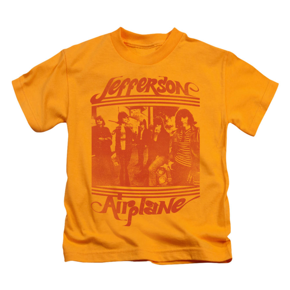 Jefferson Airplane Boys' Group Photo Childrens T-shirt Gold