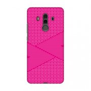 Huawei Mate10 Pro Case, Premium Handcrafted Printed Designer Hard Snap on Shell Case Back Cover with Screen Cleaning Kit for Huawei Mate10 Pro - Carbon Fibre Redux Hot Pink 6