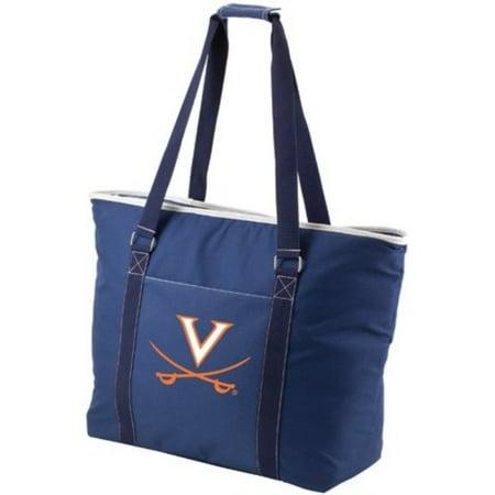 Picnic Time 598-00-138-594-0 University of Virginia Cavaliers Digital Print Tahoe Tote Bag, Navy - image 1 de 1