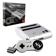 Retro-Bit RetroDuo 2 In 1 System For SNES And Nintendo NES Games Silver/Black