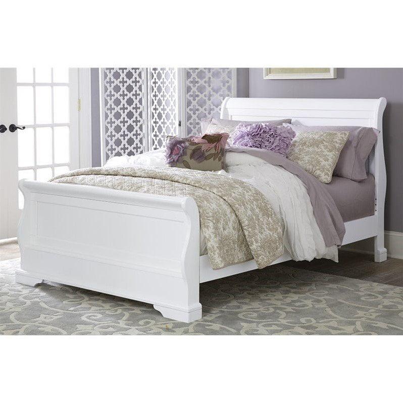 NE Kids Walnut Street Riley Twin Sleigh Bed in White