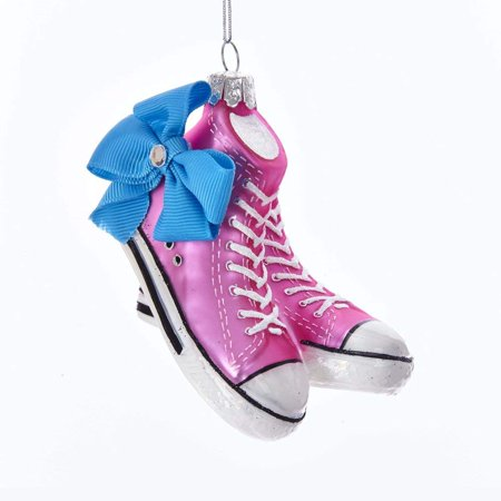 "Kurt S. Adler 4"" JoJo Siwa© Sneakers With Bow Glass Hanging Ornament"