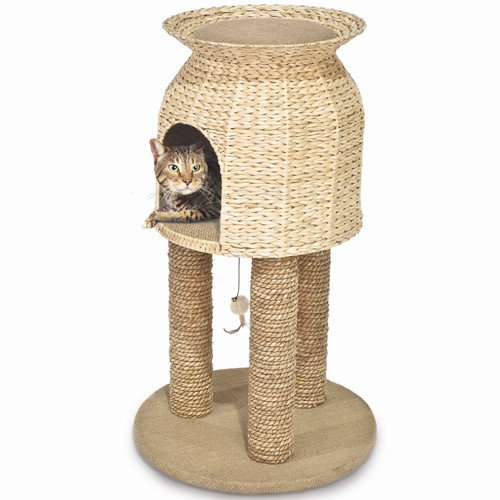 Ware Manufacturing 31'' Hyacinth and Jute Scratch and Sleep Tower Cat Condo
