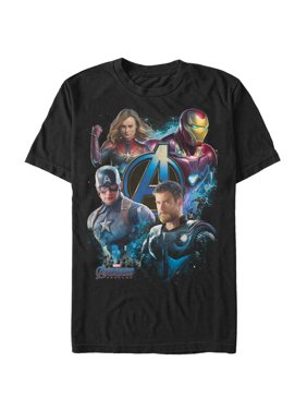 f40af509805 Product Image Walmart Exclusive Marvel Men s Avengers  Endgame Four Heroes T -Shirt