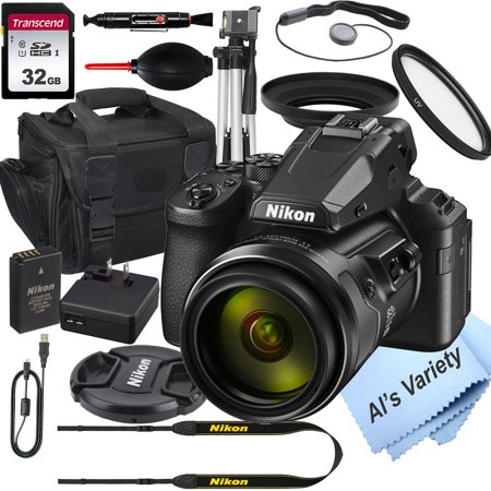 Nikon COOLPIX P950 Digital Camera+ 32GB Card, Tripod, Case, and More (17pc Bundle)