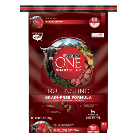Purina ONE Grain Free Natural Dry Dog Food, SmartBlend True Instinct With Real Beef & Sweet Potato - 12.5 lb. Bag