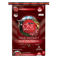 Purina ONE Grain Free Natural Dry Dog Food; SmartBlend True Instinct With Real Beef & Sweet Potato - 12.5 lb. Bag