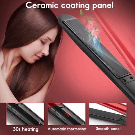 120-200℃ Hair Straightener Curling Iron Hair Styling Curler Quick Hair Style LCD Display - image 4 de 13