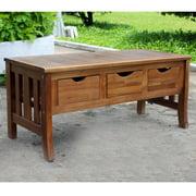 Highland Acacia 3-drawer Storage Bench