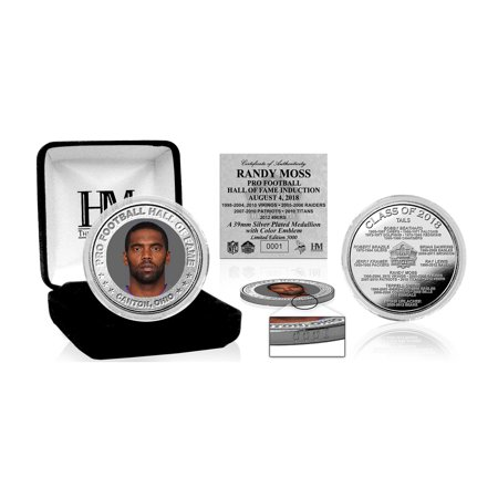 Randy Moss Minnesota Vikings Highland Mint 2018 Pro Football Hall of Fame Induction 39mm Silver Color Coin - No Size