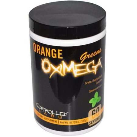 Orange OxiMega Greens Spearmint -- 0.72 lb, Controlled Labs By Controlled Labs,USA