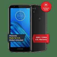 Moto E6 (2019) - Unlocked Smartphone - Global Version - 16GB - Starry Black (US Warranty)