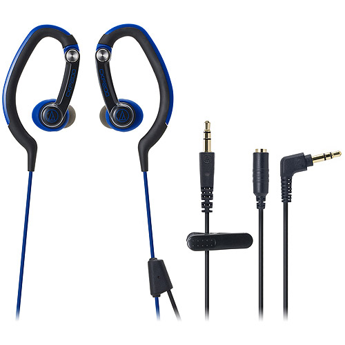 Audio Technica SonicSport In-Ear Headphones, Blue, ATH-CKP200BL