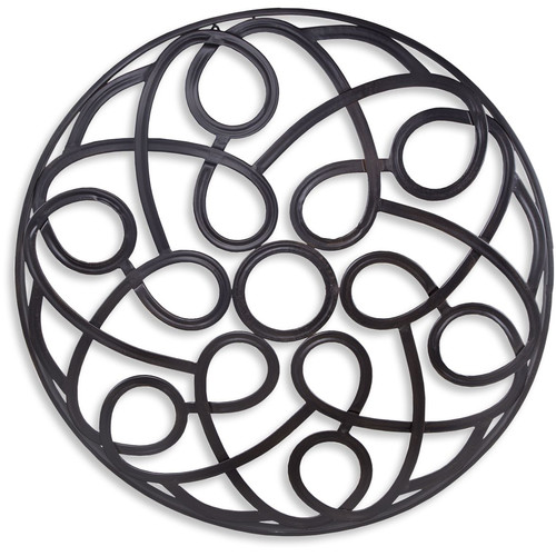 Home Essentials and Beyond Abstract Stamp Grille Wall D cor