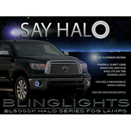 New 2007-2013 Toyota Tundra Halo Angel Eye Fog Lamps Driving Lights