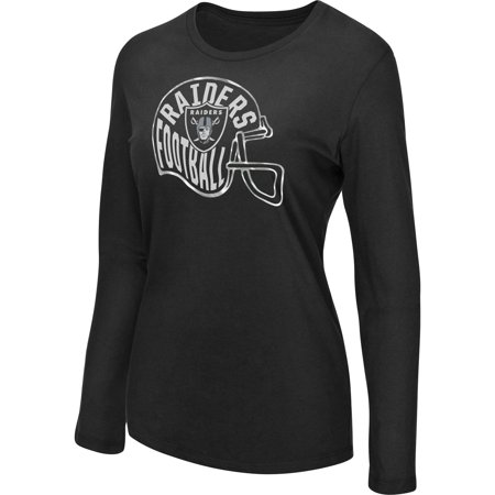 Women's Majestic Black Oakland Raiders Turn it Loose Long Sleeve T-Shirt - Oakland Raiders Trade