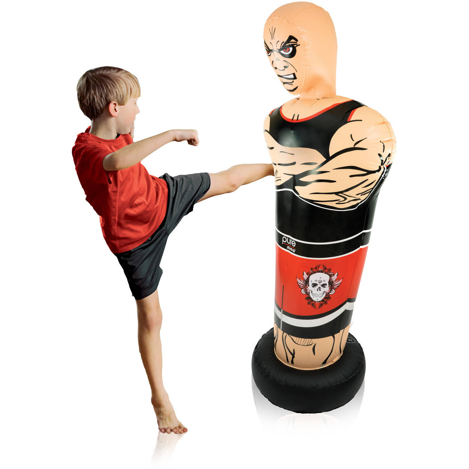 Pure Boxing Tough Guy Inflatable Punching Bag for Kids by Global Quality Brands