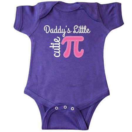Inktastic Daddy Little Cutie Pi Day Math Girls Infant Creeper Daddys Cute Pink