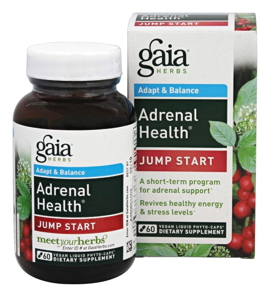 Gaia Herbs - Adrenal Health Jump Start - 60 Vegan Caps