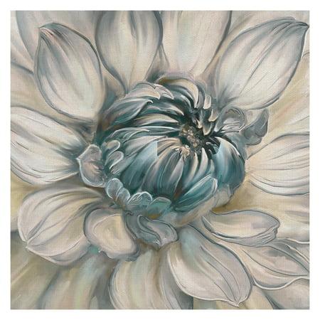 Masterpiece Art Gallery Daytime Dahlia Blue II By Studio Arts Canvas Art Print 30