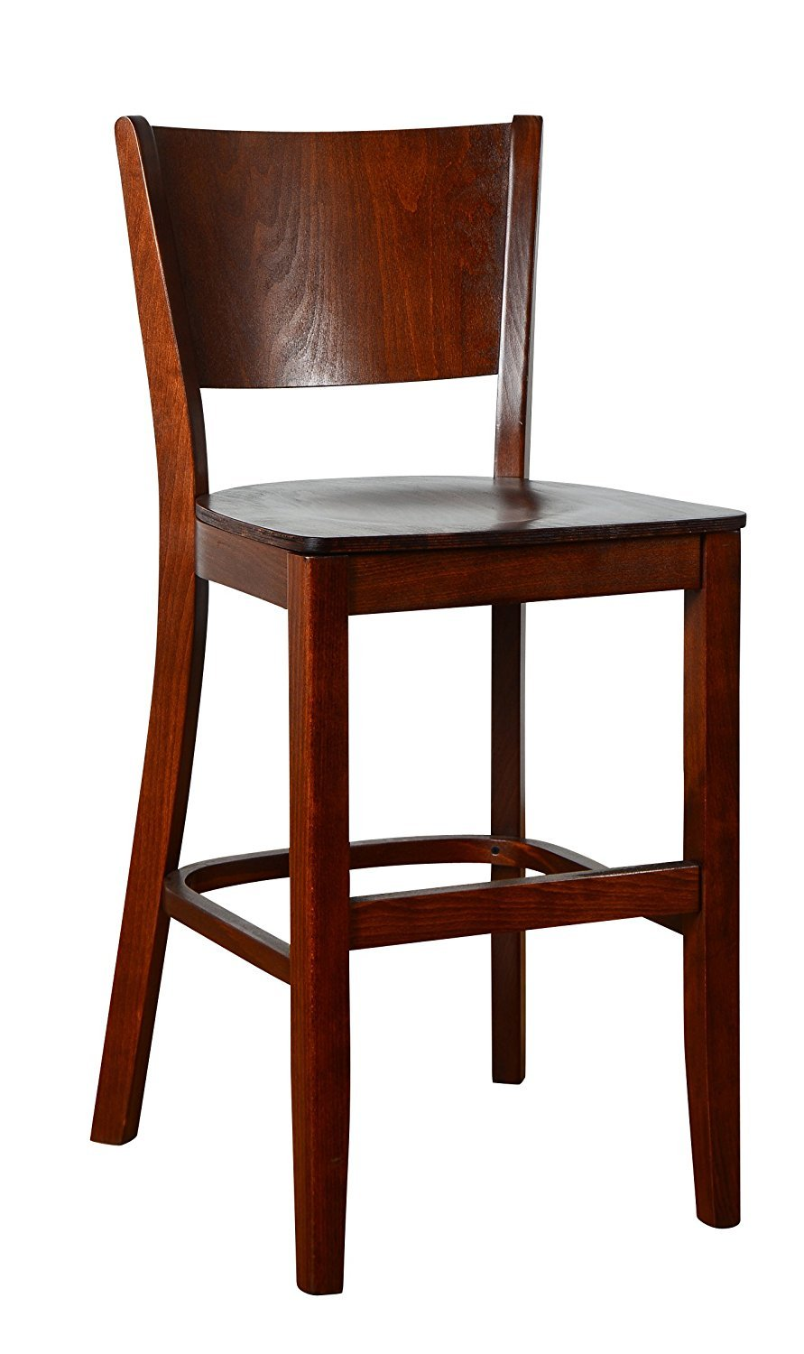 Beechwood Mountain BSD-86B24-MO Solid Beech Wood Counter Stool in Medium Oak with wood seat for Kitchen and dining by Beechwood Mountain