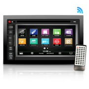 "PYLE SDNV66B - 6.5"" Video Headunit Receiver, GPS Navigation, Bluetooth Wireless Streaming, CD/DVD Player, Double DIN"