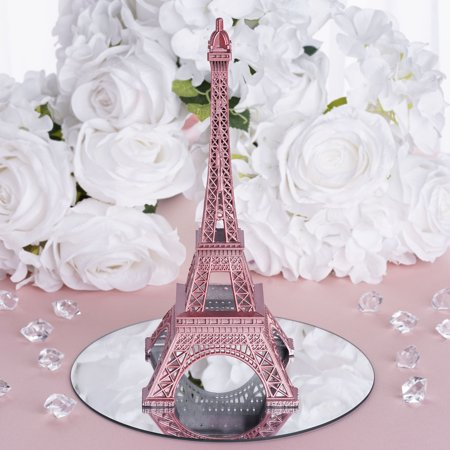 BalsaCircle 10 inch Eiffel Tower Centerpiece - Party Wedding Home Dinner Table Kids Room Decorations - Simple Wedding Decorations