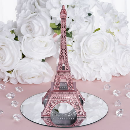 BalsaCircle 10 inch Eiffel Tower Centerpiece - Party Wedding Home Dinner Table Kids Room Decorations (Black And Silver Centerpiece Ideas)